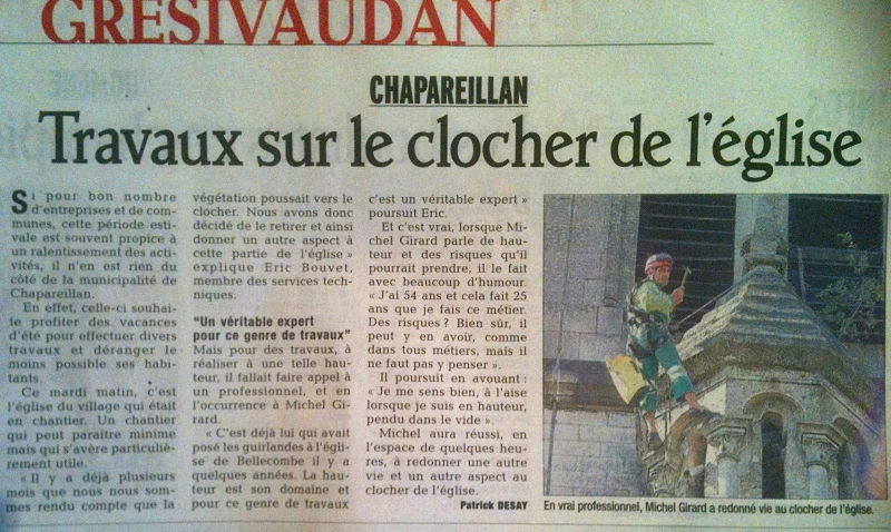 Article de presse sur Michel Girard